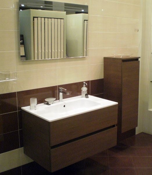 Outlet Mobile Duke legno Douglas con lavabo e semicolonna - Mario ...