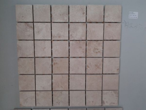 Outlet mosaico gres porcellanato tessera effetto pietra