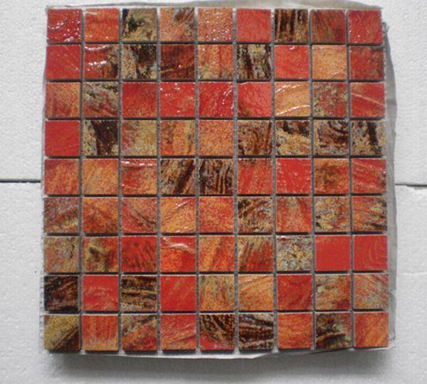 Mosaico tiramolla rosso mosaico tiramolla rosso - Bagno mosaico rosso ...